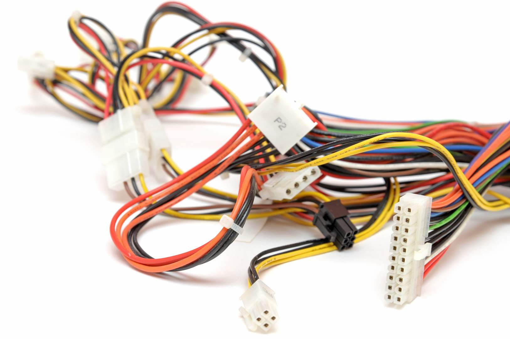 multicolor wires and cable connectors